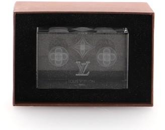 Louis Vuitton Monogram Paperweight Glass