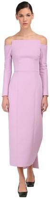 Emilia Wickstead Off-the-shoulder Textured Pencil Dress