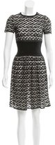Alaia Fit and Flare Patterned Dress