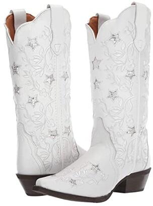 Laredo Lucky Star (White) Cowboy Boots