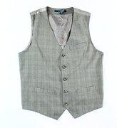 Perry Ellis Men's Heather Plaid Suit Vest