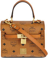 MCM Heritage padlock leather satchel