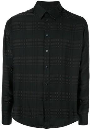 Martine Rose tone-on-tone check shirt