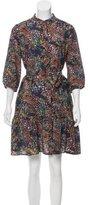 Saloni Printed Silk Dress