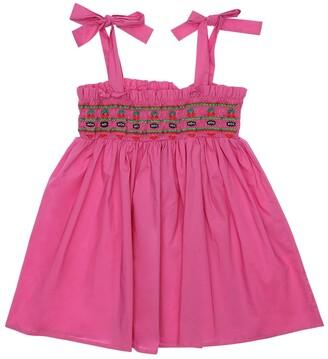 VIVETTA Embroidered Cotton Poplin Dress