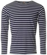 Armor Lux Long Sleeved Striped Crew T-shirt
