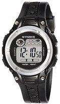Tangda Boys Girls Cool Sport Digital Alarm Stopwatch Chronograph Waist Watch Gift Watch Black