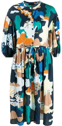 Stine Goya Landscape printed dress