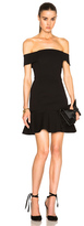 Nicholas Off Shoulder Mini Dress in Black.