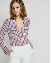 Express original fit stripe portofino shirt