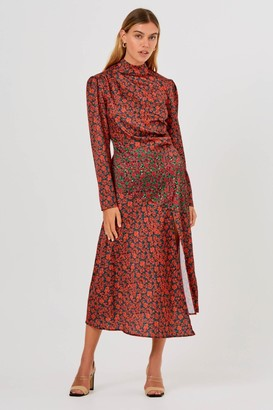 Finders Keepers YASMINE LONG SLEEVE DRESS Black Blossom