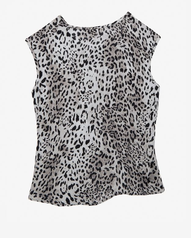 Joie Sleeveless Leopard Print Blouse