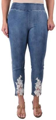 True Blue Lace Ankle Jeans