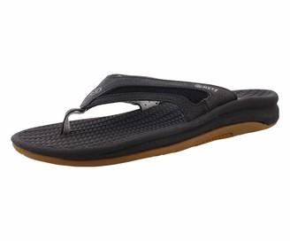 Reef Men's Flex Flip Flops (Black/Silver) 6 UK 39 EU