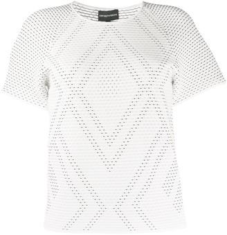 Emporio Armani woven detail T-shirt