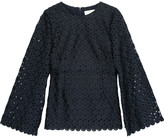 Zimmermann Havoc Thistle broderie anglaise twill top