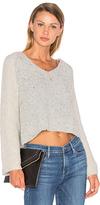 Line Drew Bell Sleeve Sweater in Gray