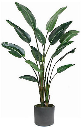 """One Kings Lane Travelers Palm with Black Planter - Faux - 72"""""""