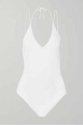 allSisters - Isosceles Backless Swimsuit - White