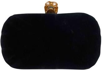 Alexander McQueen Skull Blue Velvet Clutch bags