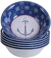 Certified International Nautique Set Of 6 Melamine All Purpose Bowls