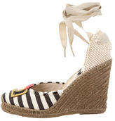 Marc Jacobs Lace-Up Espadrille Wedges