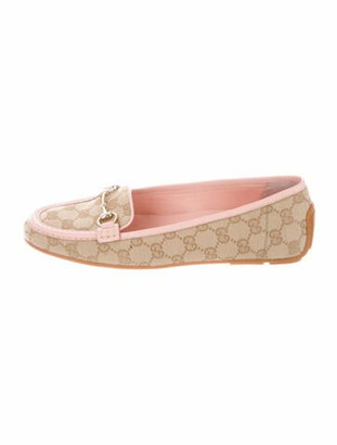 Gucci GG Supreme Loafers Pink