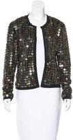 Sea Sequin-Embellished Metallic Jacket