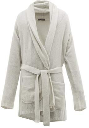 Denis Colomb Nimbus Shawl Collar Belted Cashmere Cardigan - Mens - Light Grey