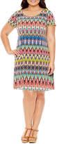 Ronni Nicole Short Sleeve Sheath Dress-Plus