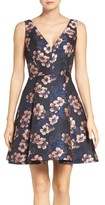 Betsey Johnson Women's Metallic Jacquard Fit & Flare Dress