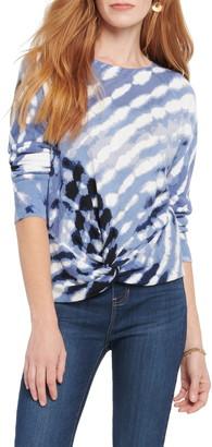 Nic+Zoe Hazy Days Twist Hem Linen Blend Sweater
