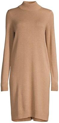 HUGO BOSS Belletta Wool-Blend Long-Sleeve Dress