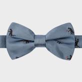 Paul Smith Men's Sky Blue 'Kaiju' Pattern Silk Bow Tie