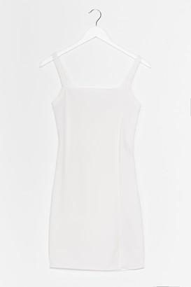 Nasty Gal Womens Slits That Easy Mini Dress - White - 8