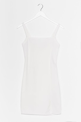 Nasty Gal Womens Slits That Easy Mini Dress - White