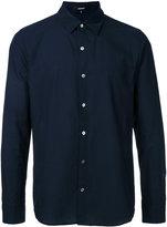 Attachment slim-fit shirt - men - Cotton/Linen/Flax - 1