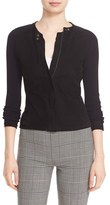 Theory Women's 'Dorynth Ether' Leather Front Sweater Jacket