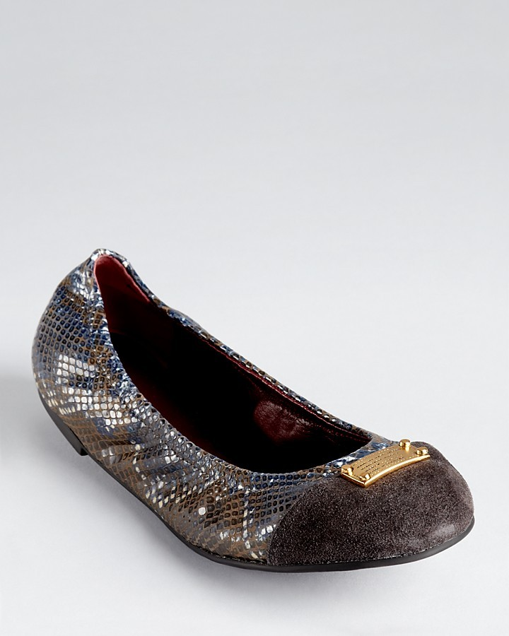 Marc by Marc Jacobs Flats - Embossed Python Ballerina