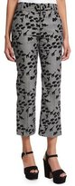 Marc Jacobs Bowie Animal-Print Cropped Pants, Plaid/Multi