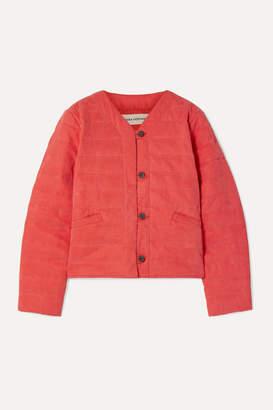 Mara Hoffman Gina Quilted Tencel And Organic Cotton-blend Jacket - Papaya