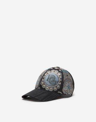 Dolce & Gabbana Jacquard Baseball Cap In Stained Glass Window Style Print