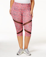 Material Girl Active Plus Size Space-Dyed Cropped Leggings, Created for Macy's