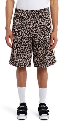 Palm Angels Leopard Print Track Shorts