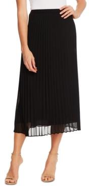 CeCe Pleated Midi Skirt