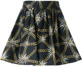 Fausto Puglisi sun and chain print skirt - women - Cotton/Spandex/Elastane - 44