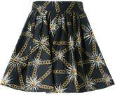 Fausto Puglisi sun and chain print skirt