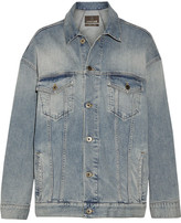 Roberto Cavalli Oversized Paneled Stretch-denim Jacket - Mid denim