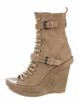 Ann Demeulemeester Suede Lace-Up Boots