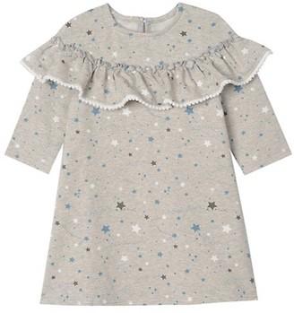 Pippa & Julie Little Girl's Star-Print Ruffle Dress